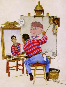 Chris-chan Norman Rockwell by NeverMonkey