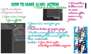 Tutorial for actions by Makitamay
