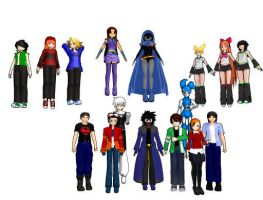 heros for MMD by ultimate44