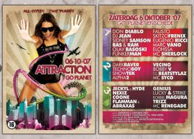 Attraction flyer by Fla4flav