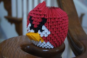3D Origami: Angry Bird by sabrinayen
