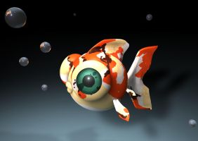 3D Fish by LazyGreen
