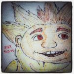 Napkin Art - 163 - Sandman - Rise of the Guardians by PeterParkerPA