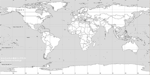 Blank Map of the World by ntp12