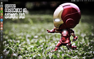 Mini Iron Man and Exra sales Conky by speedracker