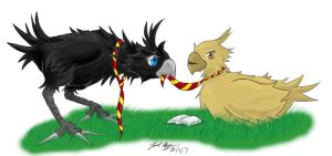 Moony and Padfoot by dr-schreaber