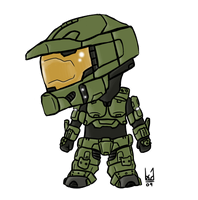 Master Chief Chibi by Blue-Dragonne01