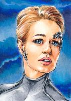 Seven Of Nine Aceo by saniika