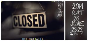 Closed off desktop. Conky Closed by speedracker