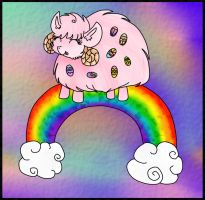.:Pink fluffy lambs dancing on rainbow:. [K1] by wenezia