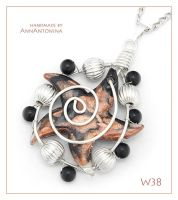 Brown Star - pendant W38 by AnnAntonina