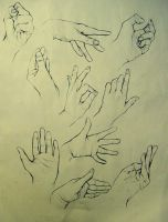 Hand Studies by Faelicia