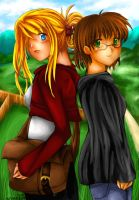 Winry and Schiezka by angiechow