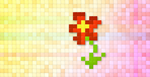 Pixel Flower by NickArtWork