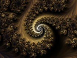 Brown Spiral by Kattvinge