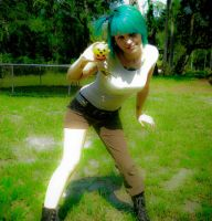 Bulma .this is just a tribute. by Zombi-Muffin