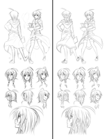 Sketch to a lineart by seochan