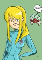 Samus is disgusted. by Beccabutterfly