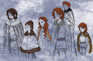 Siblings of House Stark by Kayari-of-Midnight