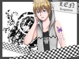 Len Kagamine : Butterfly by AmiMochi