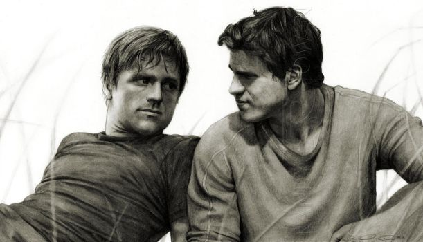 Peeta and Gale by Randy-man