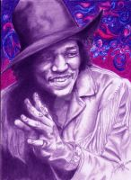 Psychedelic Jimi by ghostgirl69