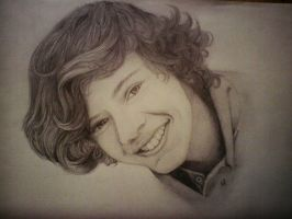 Harry Styles portrait by Viky1234xx