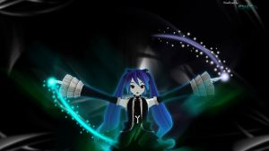 Miku Infinite Holic with dual power abstract by MikuMikuO2RPG
