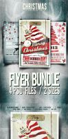 Bundle - Christmas Flyer/Card/Poster Vol.3-5-7 by elisamaggit