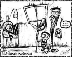 R I P Ronald the fat guy by clairebearer