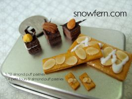 petit four almond pastries by Snowfern