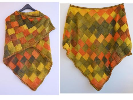 Autumn color enterlac shawl by dosiak