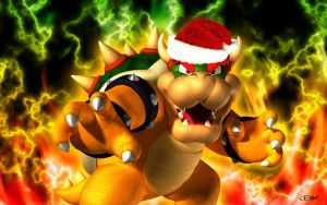 Bowser Wallpaper Christmas Version by Master-Cehk