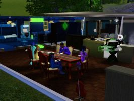 Sims 3 - We ate the burned waffles for breakfast by Magic-Kristina-KW
