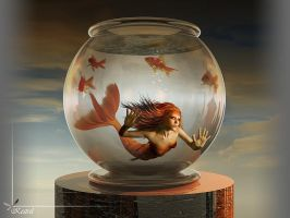 Goldfish-Mermaid by Kestrel01