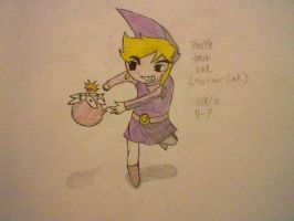 Purple toon Link by XxEAltairRoxsAxX