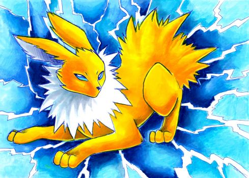 sparky Jolteon by Naaraskettu