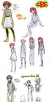 OBE rough character designs by Kayetart