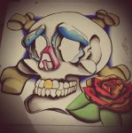 Traditional Sugar Skull - Painted by IJoshLawson