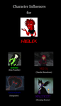 Character Influences for Helix by MetroXLR99