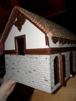 Gothic-ish Dollhouse 1:24 WIP 11: Bricks Part 2 by kayanah
