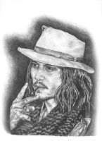 Johnny Depp - Graphite Pencil by JK-Studios