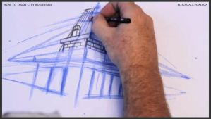 Learn how to draw city buildings 013 by drawingcourse