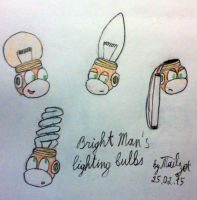 Bright Man's lighting bulbs by tails-zet