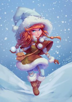 Winter witch by andrada-art