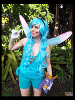 (Spyro) Blue Sparx the Dragonfly Cosplay by KrazyKari