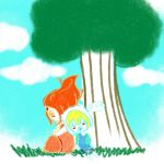 Chibi Finn And the Flame Princess by RenaHeart