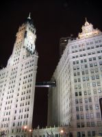 Wrigley Building - Night by ExplodedSoda