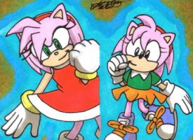 Sonic Generations: Amy by Metal-CosxArt