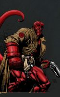 hellboy tablet color practice by sayterdarkwynd
